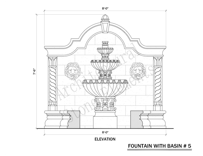Wall fountains portfolio architectural stone elements wall fountains ccuart Image collections